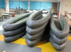 12.5 metre tubes ready for testeing and shiment