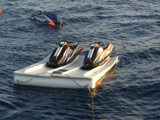 Inflatable Jet Ski Docks for the Super Yacht market