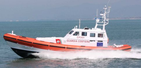 18 metre foam/air tubes for Italian Coastguard